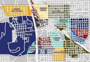Downtown Tucson Neighborhood Map